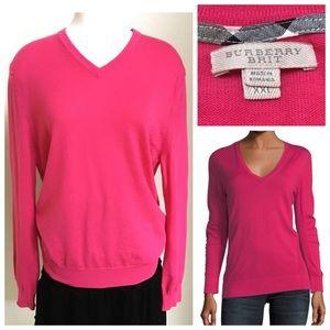 Burberry Brit Marino wool bright pink sweater XXL